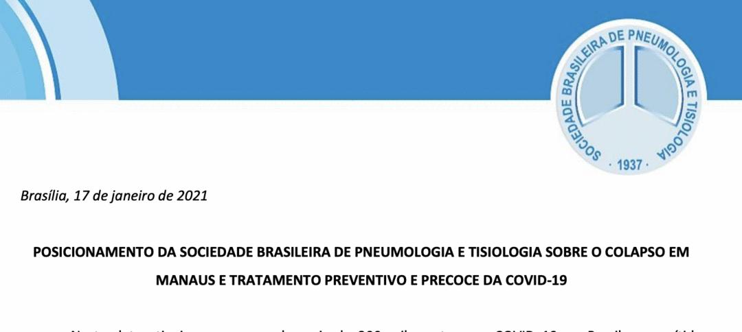Tratamento precoce: Posicionamento da Sociedade Brasileira de Pneumologia e Tisiologia