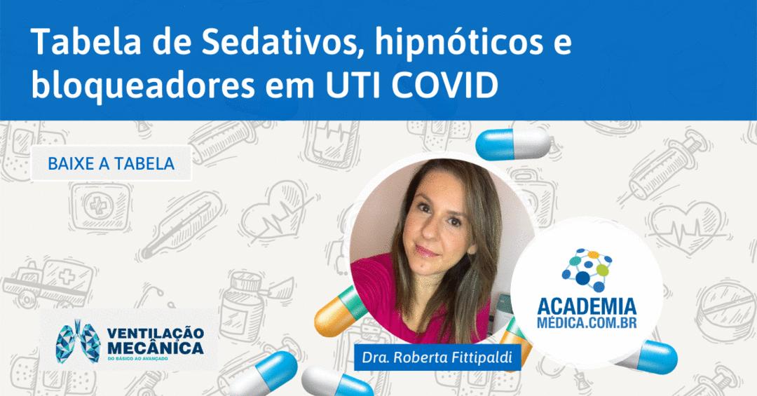 Tabela de sedativos, hipnóticos e bloqueadores em UTI COVID