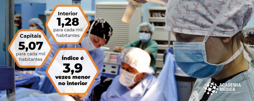 Capitais têm quatro vezes mais médicos do que os municípios do interior brasileiro