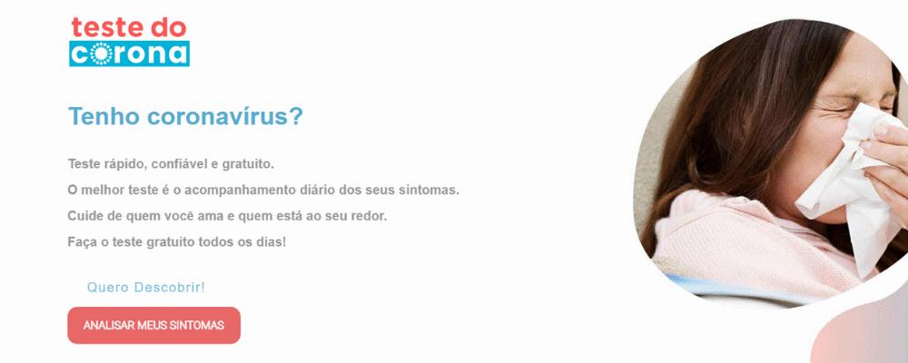 Ferramenta gratuita de triagem e monitoramento de infecção peloCoronavírus
