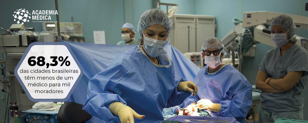 Municípios do Brasil oscilam entre a África e a Europa quanto à distribuição de médicos