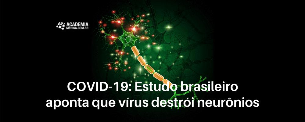 COVID-19: Estudo brasileiro aponta que vírus destrói neurônios