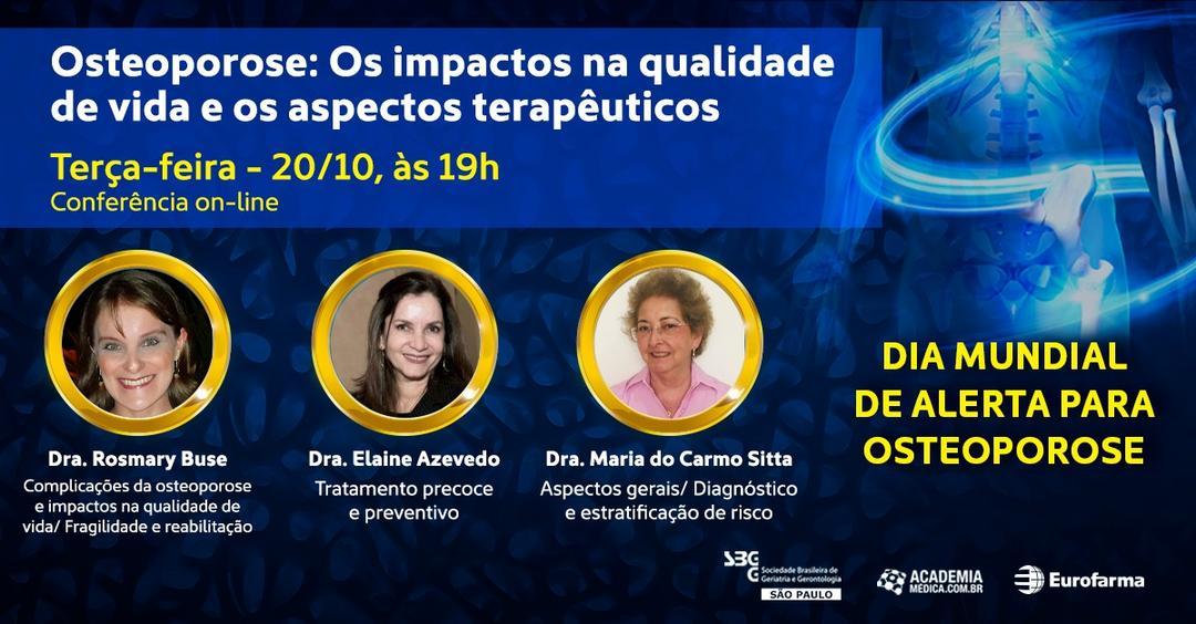 Conferência Online – Osteoporose e os Impactos na Qualidade de Vida e Aspectos Terapêuticos