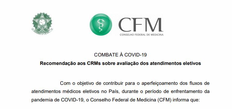 CFM dá competência aos CRMs para avaliar atendimentos médicos eletivos em cada estado