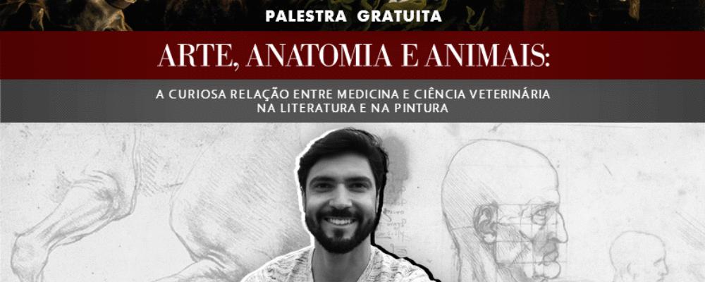 Arte, Anatomia e Animais: aula gratuita nesta sexta, dia 26, 15:00h