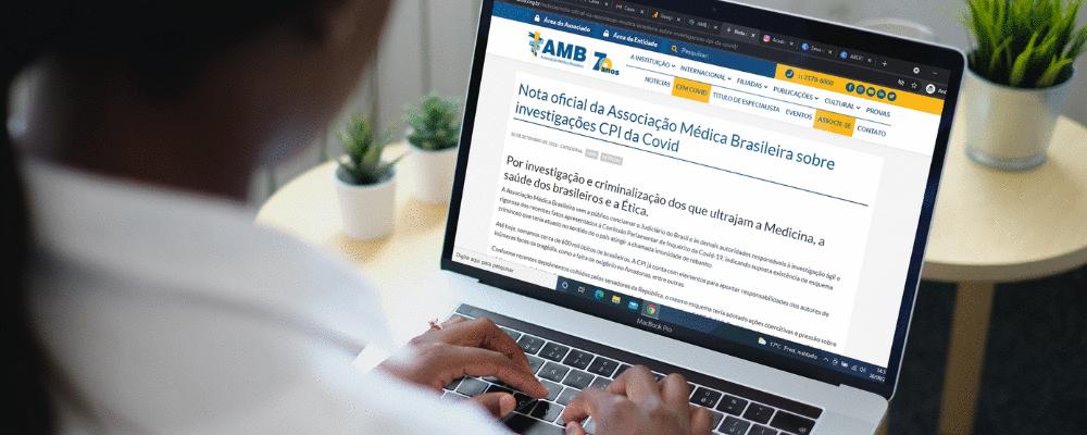 AMB pede investigação e criminalização de responsáveis por condutas antiéticas durante a pandemia