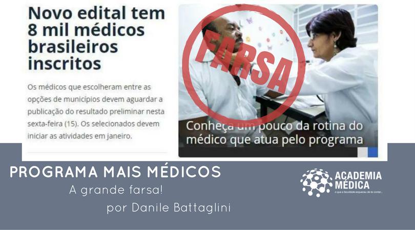 Programa Mais Médicos - a grande farsa