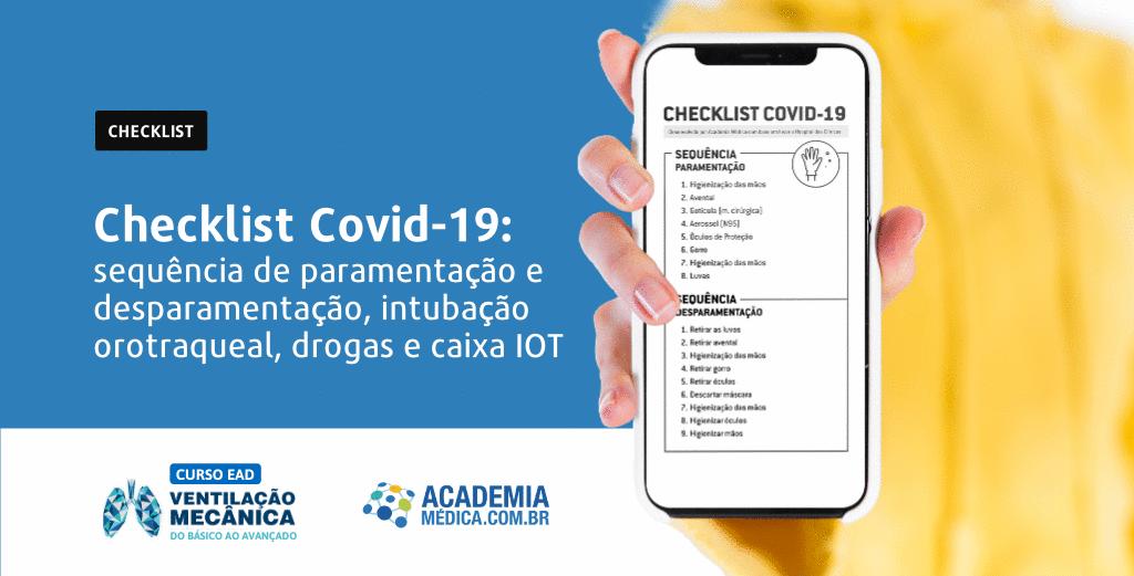 Checklist Covid-19 para profissionais da saúde