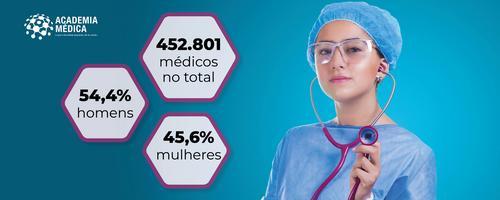 Brasil chega a quase meio milhão de médicos, com cada vez mais mulheres e jovens entre os profissionais
