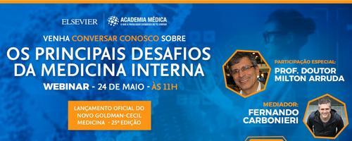 Webinar: Os principais desafios da Medicina Interna - Participe e concorra a um Goldman-Cecil Medicina - 25ª edição