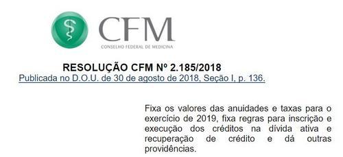 CFM concede desconto de 60% para primeira inscrição e 80% para Pessoa Jurídica