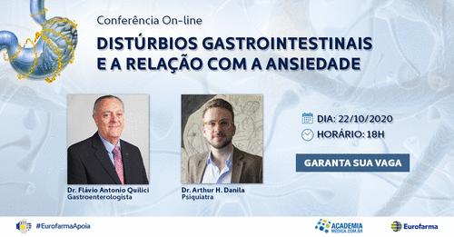 Conferência Online – Distúrbios Gastrointestinais e a Relação com a Ansiedade