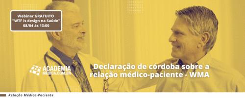Declaração de córdoba sobre a relação médico-paciente - WMA